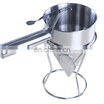Hot Sale Products Waffle Butter Dispenser Small Metal Stainless Steel Conical Funnel With Rack