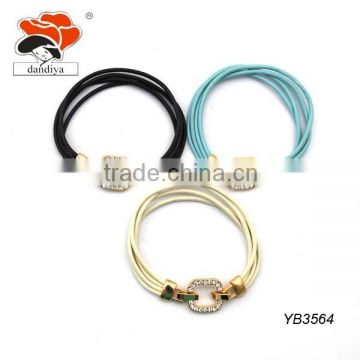 New fashion design wholesale leather wax rope chain braided bracelet for women and men gift