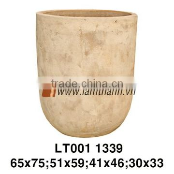 Vietnam Round Antique Terracotta Flower Pot