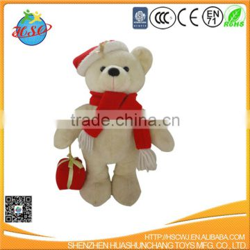 Christmas plush female teddy bear toys