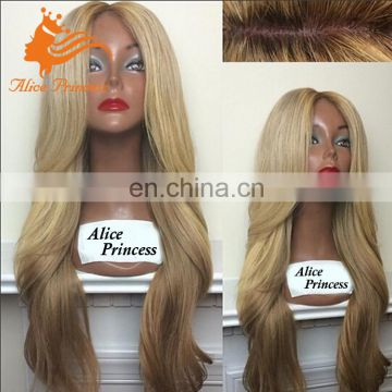 7A Grade Honey Blonde Human Hair Full Lace Forzen Wig Loose Natural Wave Super Fine Swiss Lace Wig With Peruvian Baby Hair