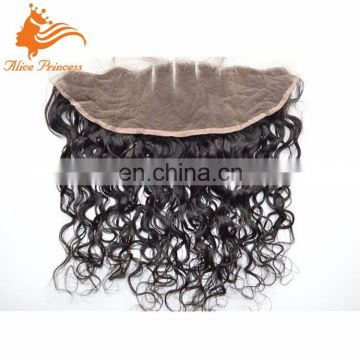 Aliexpress Hand Tied Water Wave Smooth Human Brazilian Hair Frontal Lace Hair Lace Frontal Closure