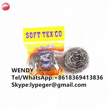 Super quality stainless steel spiral scourer from factory