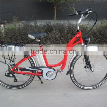 250W rear motor,36V10A Lithium battery,Sinwave controller,LED display CE woman electric bicycle/bike