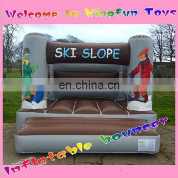 Ski slope inflatable jumper bouncer for New year