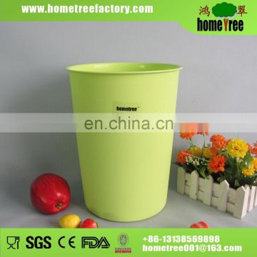 2015 New Product Concise Green 8.5L Colorful Plastic Round Wastebasket