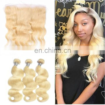 2017 Hot Selling Virgin Brazilian Hair Blonde Lace Frontal