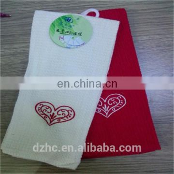 custom cotton cellulose cleaning cloth tea towel to embroider