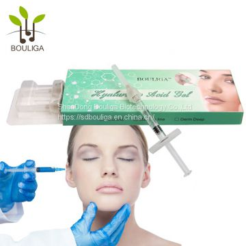 hyaluronic acid injectable dermal filler 10ml deeper cross linked for breast augmentation buttock augmentation