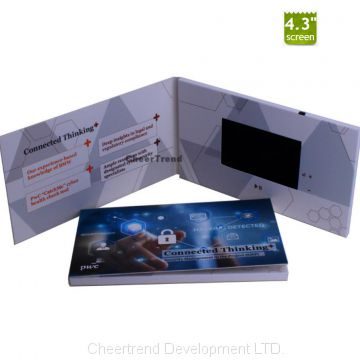 Custom Artwork 4.3 Inch LCD Video Brochure