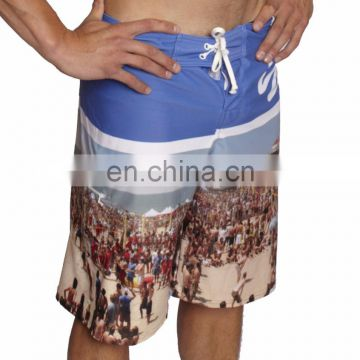 Wholesale custom printed swimwear 4 way stretch blank fishing shorts