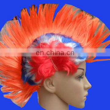 Factory direct sell Hallowmas Masquerade Punk Mohawk Mohican hairstyle Cockscomb Hair Wig