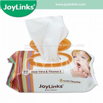 Wholesale 80PCS Baby Wet Wipes with Plastic Lid