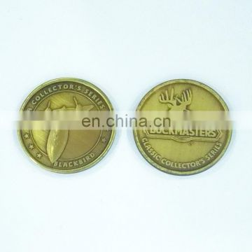 Reward round shaped embossed gold medal