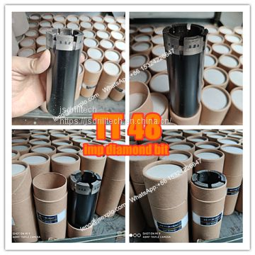 LTK 48, TT48 bits, impregnated diamond core drill bits, exploration drilling bit, rock coring, geotechnical drilling bits