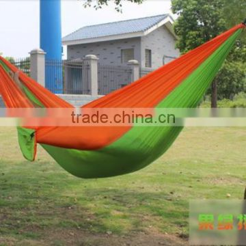 Portable Outdoor Traveling Camping Parachute Nylon Fabric Hammock for Two Person 8 Colors High Quality
