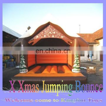 2015 X-Mas inflatable bouncer/inflatable bouncy castle/inflatable jumper
