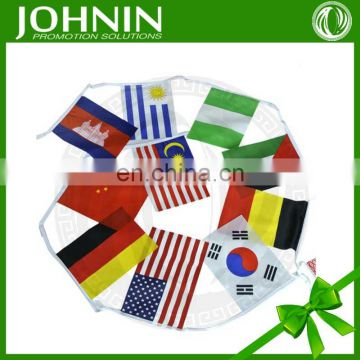 2015 Custom fabric high quality cheap string bunting flag