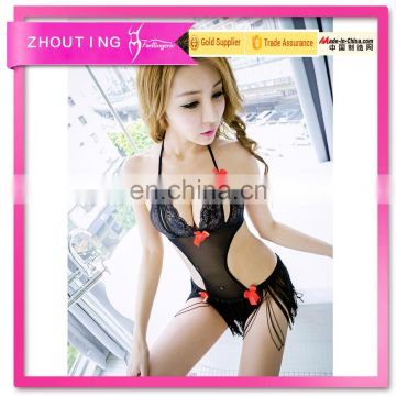 Fashion Sexy Lingerie Women's Underwear Nightwear Black Teddy Sleepwear