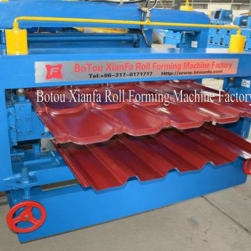 Double Glazed Tile And Trapezoidal Roll Forming Machine
