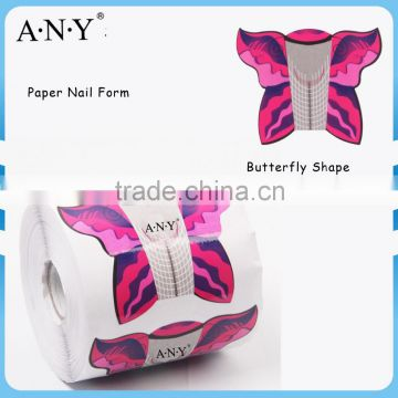 ANY Nail Art Beauty Acrylic UV Gel Extension Nails Using 500PCS per Roll Paper Nail Form Burtterfly for Nail Art                                                                         Quality Choice
