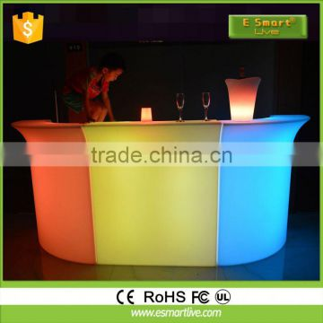 Brand new led bar counter fast food restaurant counterLed Plastic Bar CounterPlastic Lighting Sofa