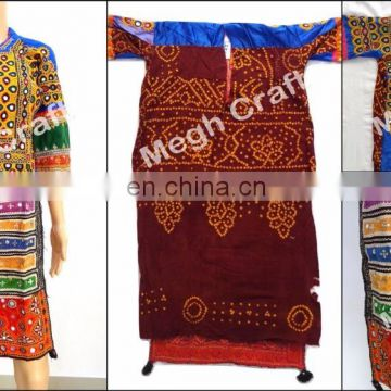 Afghan dress- balochi dress-kuchi vintage tunic- Vintage kuchi dress -ethnic dress- bohemian dress -afghani gypsy dress