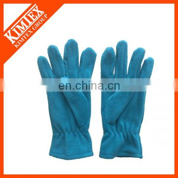 Polyester winter fleece customized gloves with your logo