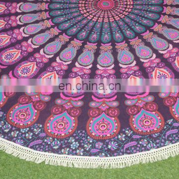 Unique Pattern Home Decor New Cotton Yoga Mat Picnic Roundie