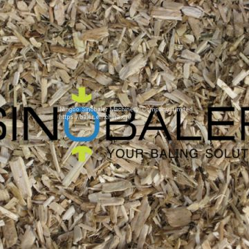 Flax Shavings Baler in Flax Shavings Recycling