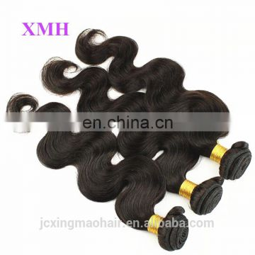 Most popular natural human no tangling unprocessed brazilian hair extension