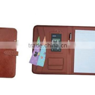 A4 leather conference orgainzer folder