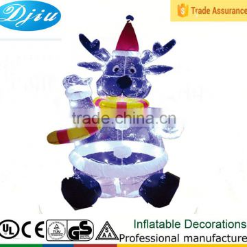 DJ-545 christmas decoration inflatable japanese bear teddy with led light outdoor