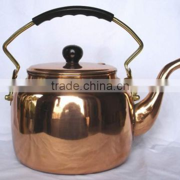 BPA free pure copper smooth polished tea kettle, Water kettle, Cute Brew kettle, water kettle