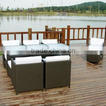 rattan table and chair sets for restaurant/garden