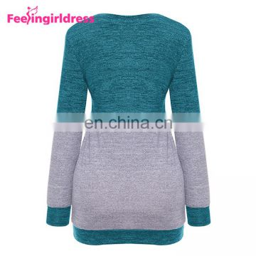 Fashion Soft Long Sleeves Ugly Christmas Striped Knitted Woman Sweater