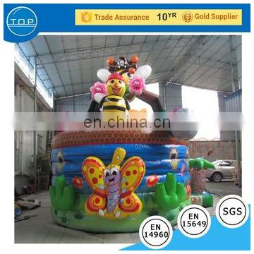 TOP INFLATABLES Multifunctional six flags bouncer inflatable bouncer/jump castle water slide