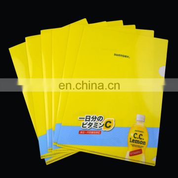 L shape custom presentation a4 file folder plastic