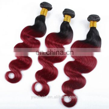 Ombre Brazilian Virgin Human Hair T1B/ 99J Color Ombre Hair Extensions Body Wave 3PCs 100% Human Hair