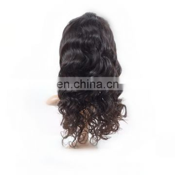Factory wholesale human hair full lace wigs remy brazilian hair water wave hair wigs