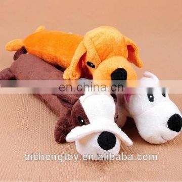 cute cartoon plush dog head stuffed pillow cuddly pet toys