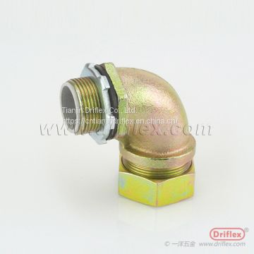 Colour Zinc Plated Steel Connector for Flexible Metal Conduit or Liquidtight Conduit with PVC Jacketed