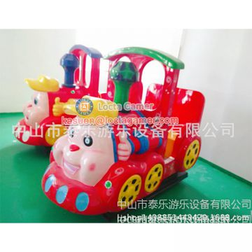 Zhongshan amusement park equipment, kiddy rides, Cartoon Train for kids, coin operated swing game machine Rocking