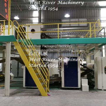 Inner Vacuum Corrugated cardboard production line carton machine 3/5/7ply
