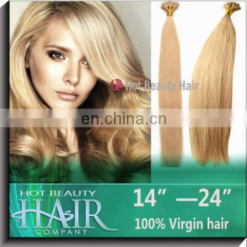 Courteous service human hair blond 100% human virgin hair clip-in hair extension