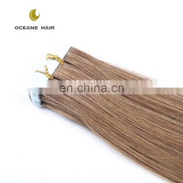 2.5g/piece 30 inch 100% european hair remy invisible tape hair extensions