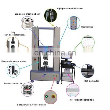 Direct Dual Universal Tensile Testing Machine For Plastic Metal Textile Rubber