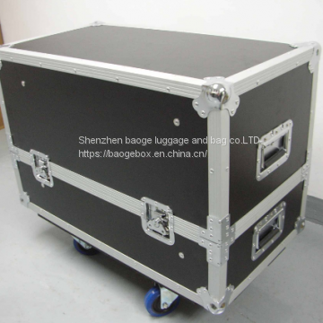 Led Plasma Tv Custom White/black/gray Upright Bass Flight Case