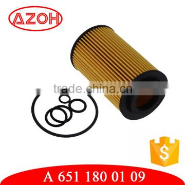 China wholesale car engine spare parts cartridge oil filter A 651 180  0109,A6511800109,for motor Mer-cedes Ben-z