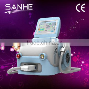 2014 hot sale! Newest Ipl + e-light+ SHR 3 in 1 Mini Hair removal device/laser ipl hair